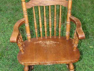 Vintage Spindle Back Captains Chair