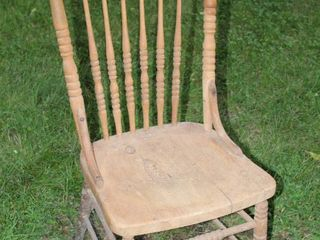 Vintage Wooden Spindle Back Chair