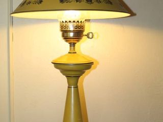 Cool Vintage Mustard Yellow Metal Tolle lamp