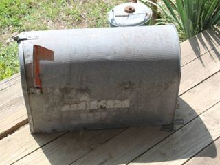 large Vintage 24  long x 16  Tall Steel Mail Box
