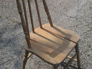 Antique Taper Back Spindle Chair
