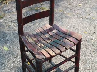 Vintage ladderback Chair with Slat Seat