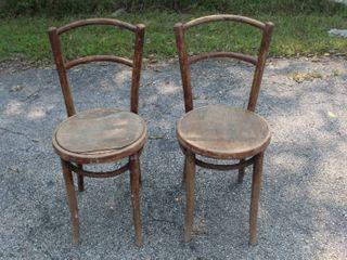 2  Vintage Antique Thonet Chairs