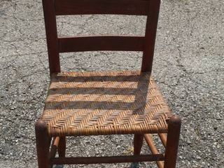 Antique ladderback Woven Seat Chair