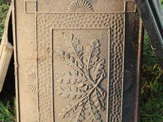 Antique Cast Iron Stove Parts   Panels marked 25  Springfield Stove Co  Ashland