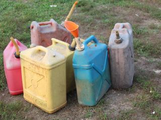Total of  8  Vintage Plastic Utility Cans and Jugs