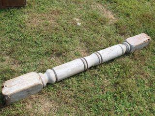 Reclaimed Wooden Post 69  Tall x 6 5  Diam