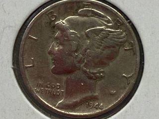 1944 D Mercury Head Silver Dime