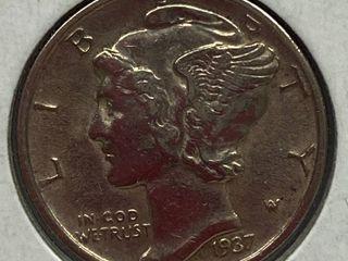 1937 Mercury Head Silver Dime