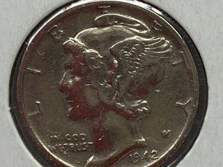 1942 Mercury Head Silver Dime