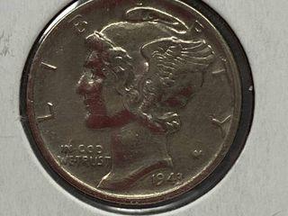 1943 Mercury Head Silver Dime