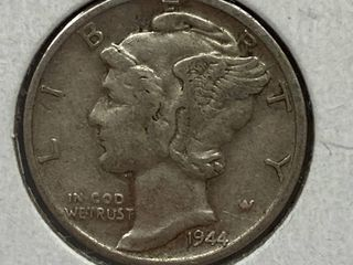 1944 S Mercury Head Silver Dime