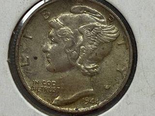 1944 Mercury Head Silver Dime