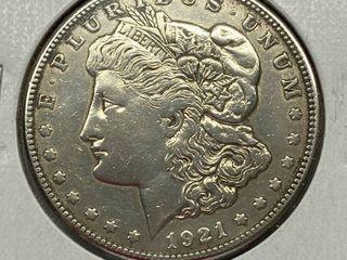 1921  1 Morgan Silver Dollar