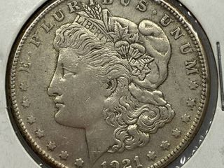 1921 S  1 Morgan Silver Dollar