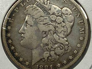 1884 O  1 Morgan Silver Dollar