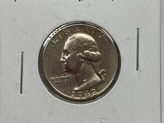 1962-D Washington Quarter Dollar