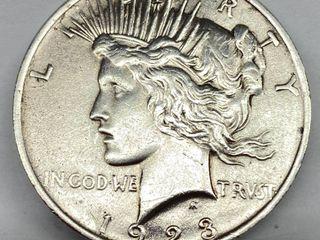 1923 Peace Silver Dollar   Very Collectible