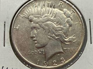 1923 S Peace Silver Dollar