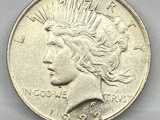 1922 Peace Silver Dollar   Super Nice