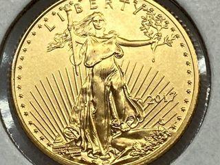2017 1 10 oz  FINE GOlD Eagle  5 Coin