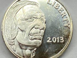 liberty One OUNCE  999 Fine SIlVER   Indian Buffalo