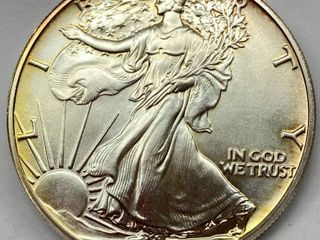 1988 Silver Eagle Dollar   1 oz of  999 fine Silver