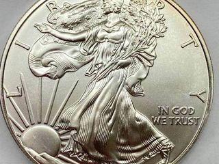 2015 Silver Eagle Dollar   1 oz of  999 fine Silver