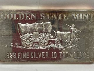 Golden Mint 10 oz  SIlVER BAR