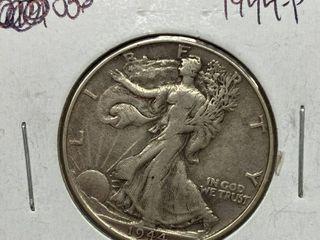 1944 P Walking liberty Silver Half Dollar