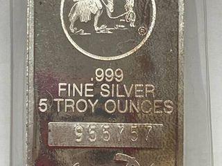 Silvertowne Mint 5 oz  SIlVER BAR