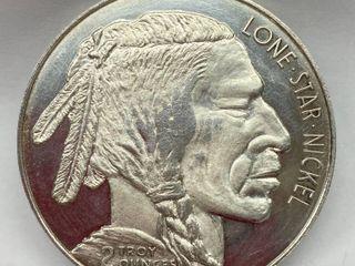 2 oz  SIlVER Indian Buffalo Coin