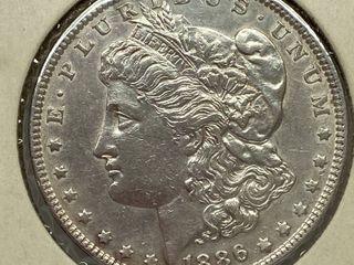 1886  1 Morgan Silver Dollar   Very Collectible