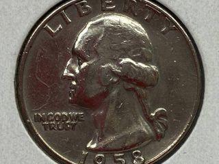 1958 Washington Quarter Dollar