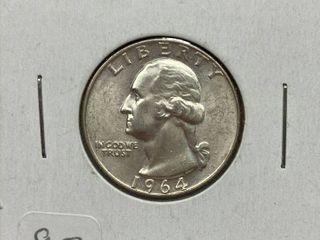 1964 D Washington Quarter Dollar
