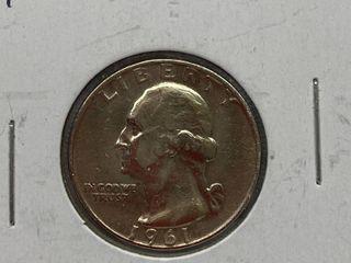 1961 D Washington Quarter Dollar