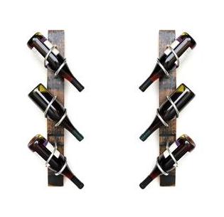 Handmade Whiskey Stave Wine Rack  Set of 2