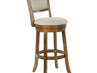 Swivel Stool 30  with Solid Back in Burnt Brown Finish