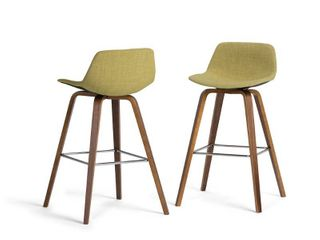 WYNDENHAll Cacey Mid Century Modern Bentwood Counter Height Stool  Set of 2    20 7  x 21 1  x 36 6   Retail 199 99