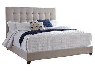Signature Design by Ashley Beige Upholstered Bed  Retail 288 49