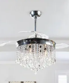 Silver Orchid Scheer three blade 42in Crystal ceiling fan