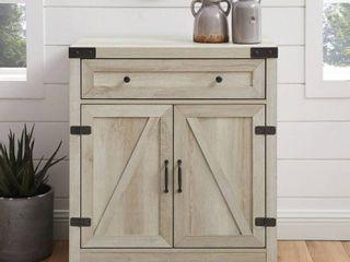 The Gray Barn 30 inch Rustic Barn Door Accent Cabinet