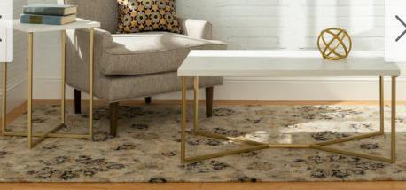 Silver Orchid Ipsen 2 piece lux Table Set   Retail 214 49
