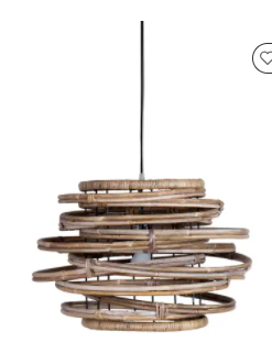 East at Main Rory Drum Pendant   22  W x 22  D x 15  H  Retail 170 95