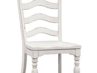 Magnolia Manor Antique White ladder Back Side Chair Set Of 2