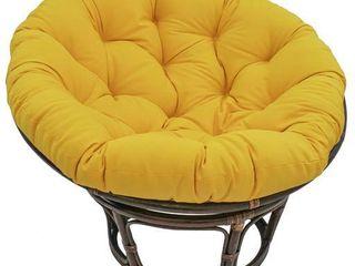 Blazing Needles 44 inch Solid Papasan Cushion yellow