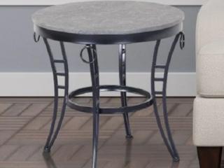 Porch   Den Erawana Emerson Grey round end table