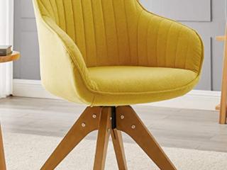 Art leon classical swivel office accent  yellow