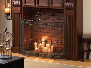 Fleur De lis Fireplace Screen Retail 203 49