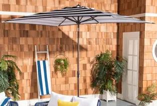 10 x 6 5 FT Rectangular Double Top Market Umbrella with Tilt   Crank Retail 139 99
